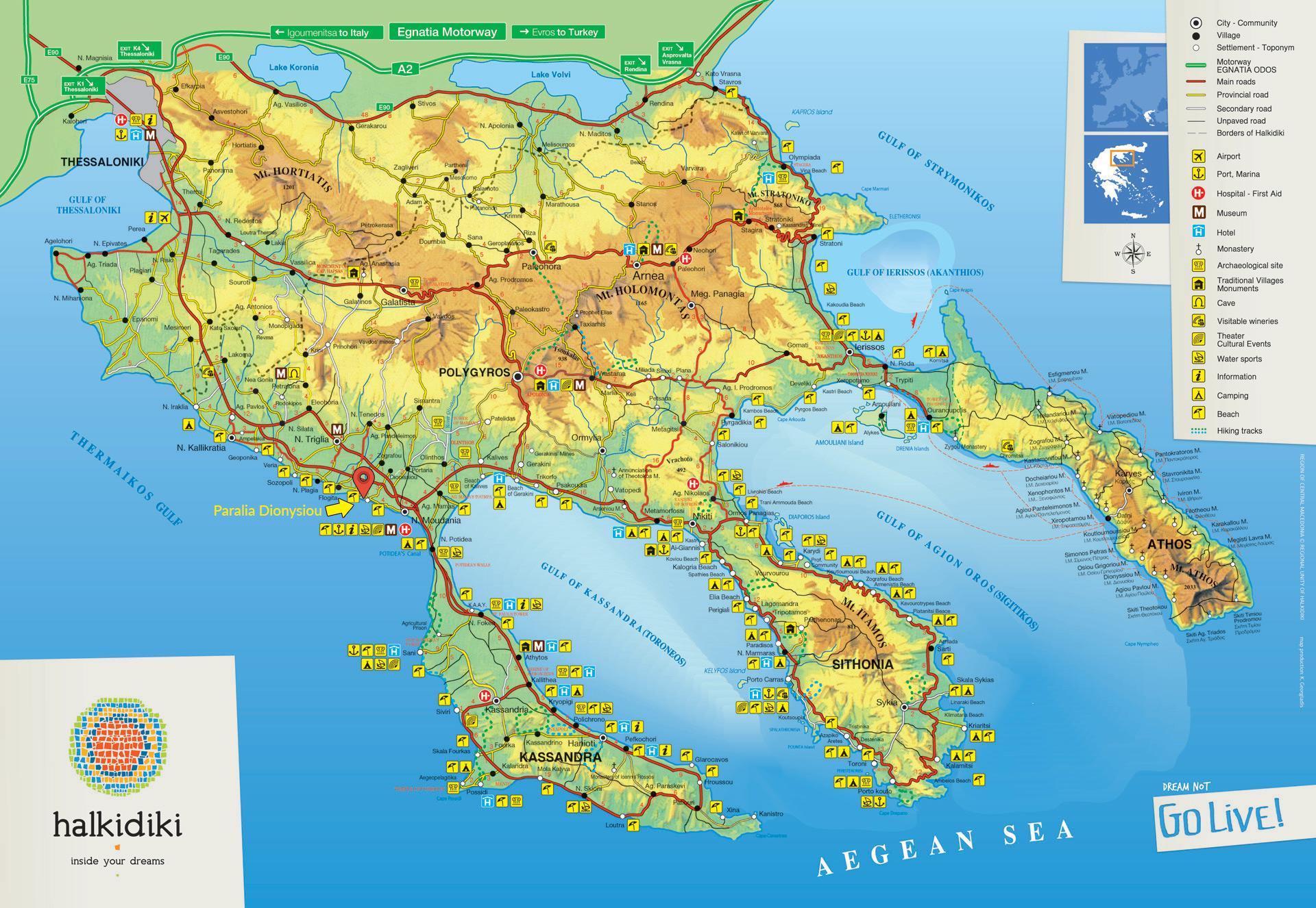 Apartments Dimitra Location Halkidiki and surrounding area